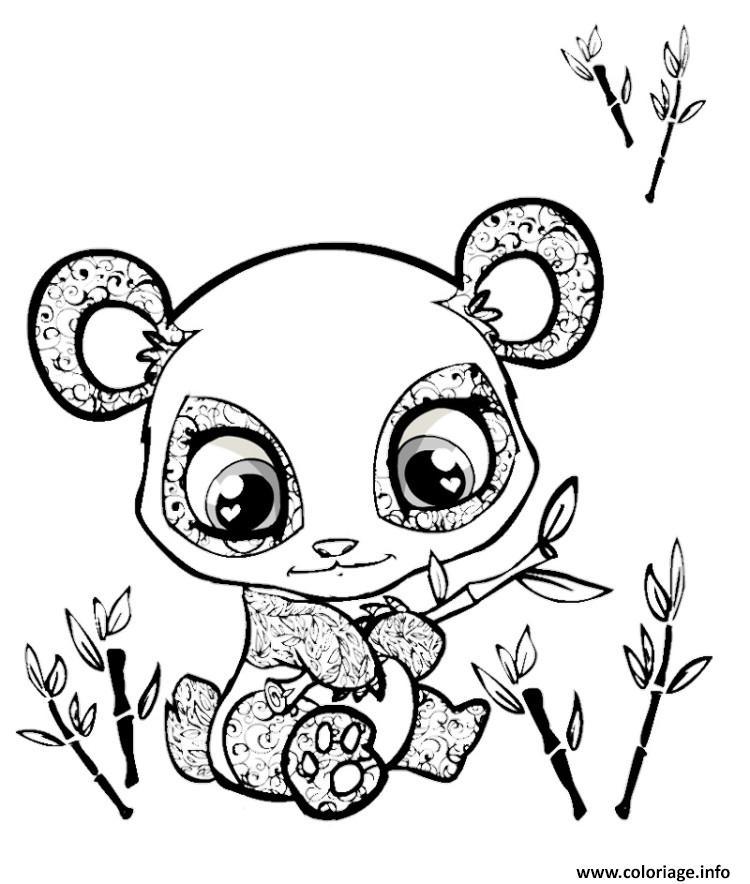 Coloriage cute panda animaux mignon dessin - Panda coloriage ...