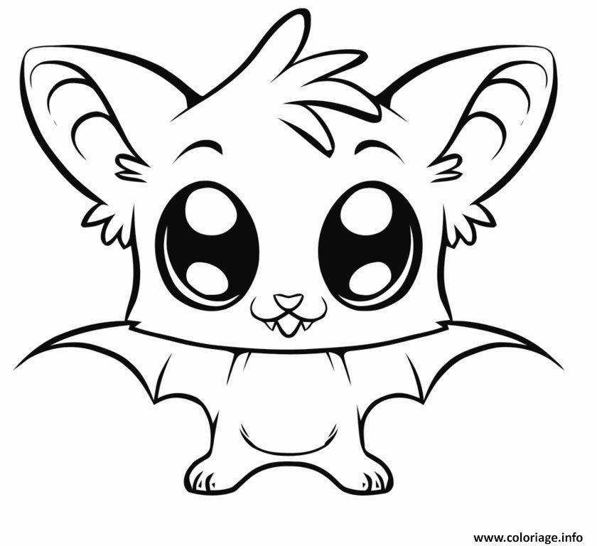 Coloriage Bebe Chauve Souris Cute Animaux dessin