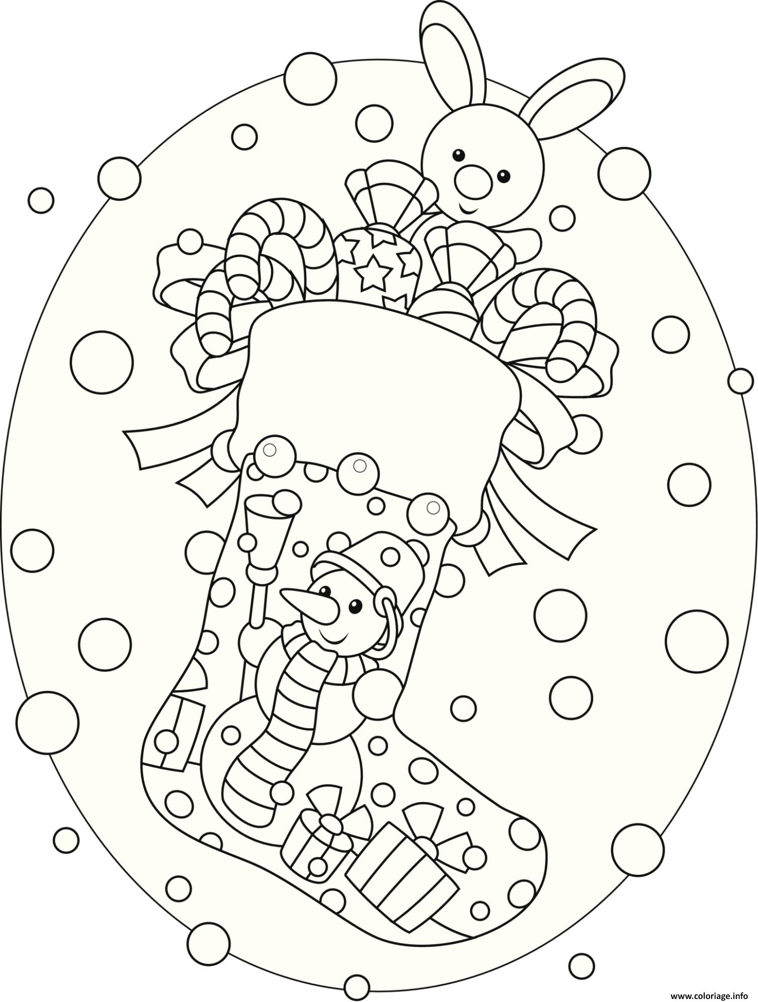 Coloriage bas de noel facile dessin - Coloriage colorier ...