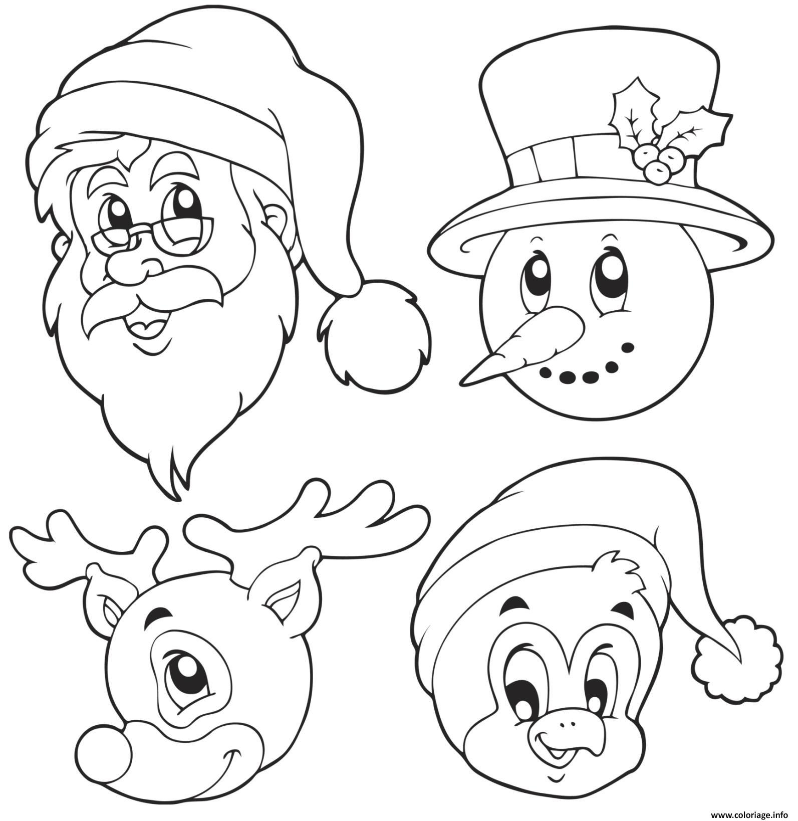 Dessin A Imprimer Noel Reine Des Neiges : coloriage pere noel bonhomme de neige pingouin reine dessin ~ Pogadajmy.info Styles, Décorations et Voitures