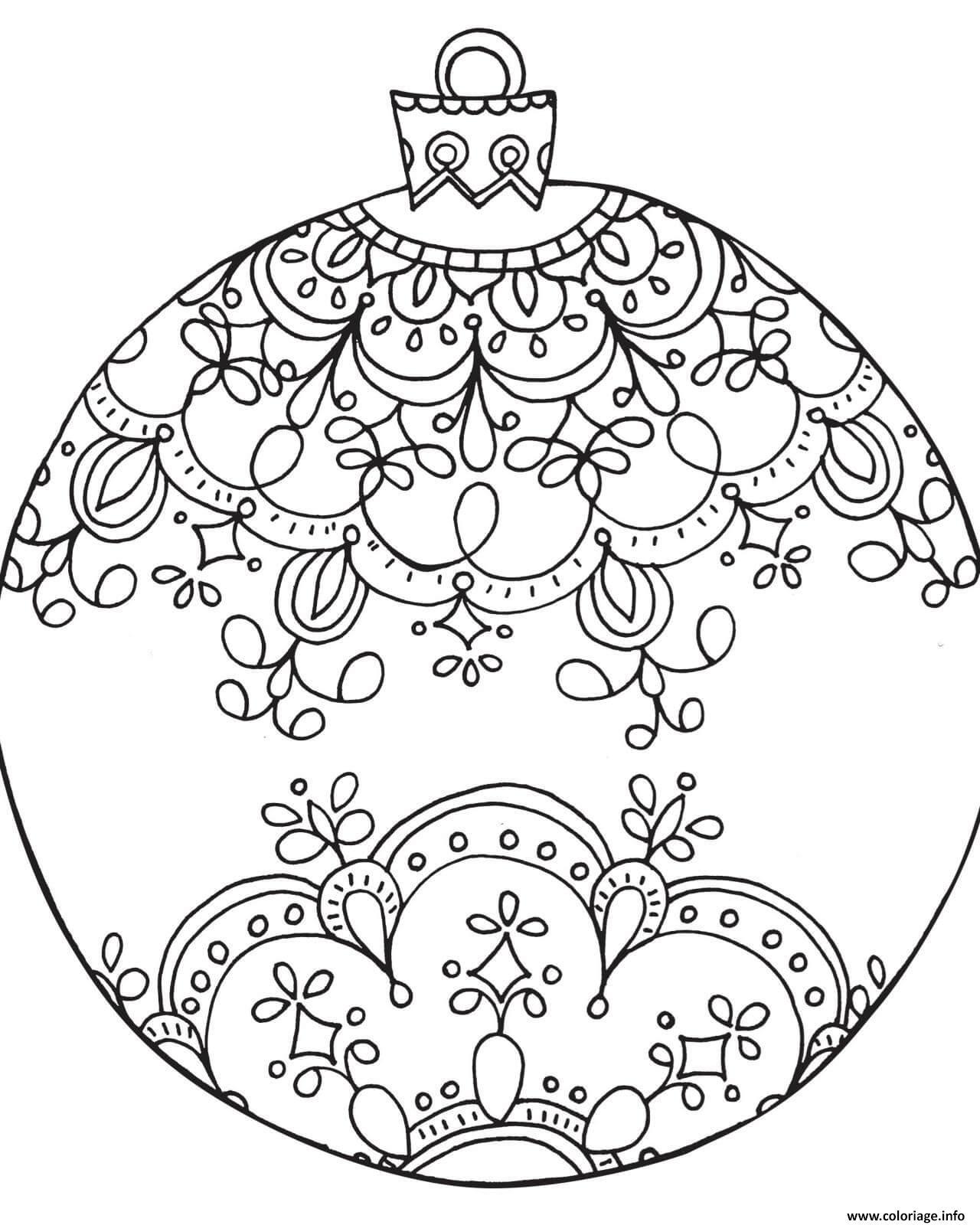 Dessin Boule De Noel.Coloriage A Imprimer Boule De Noel