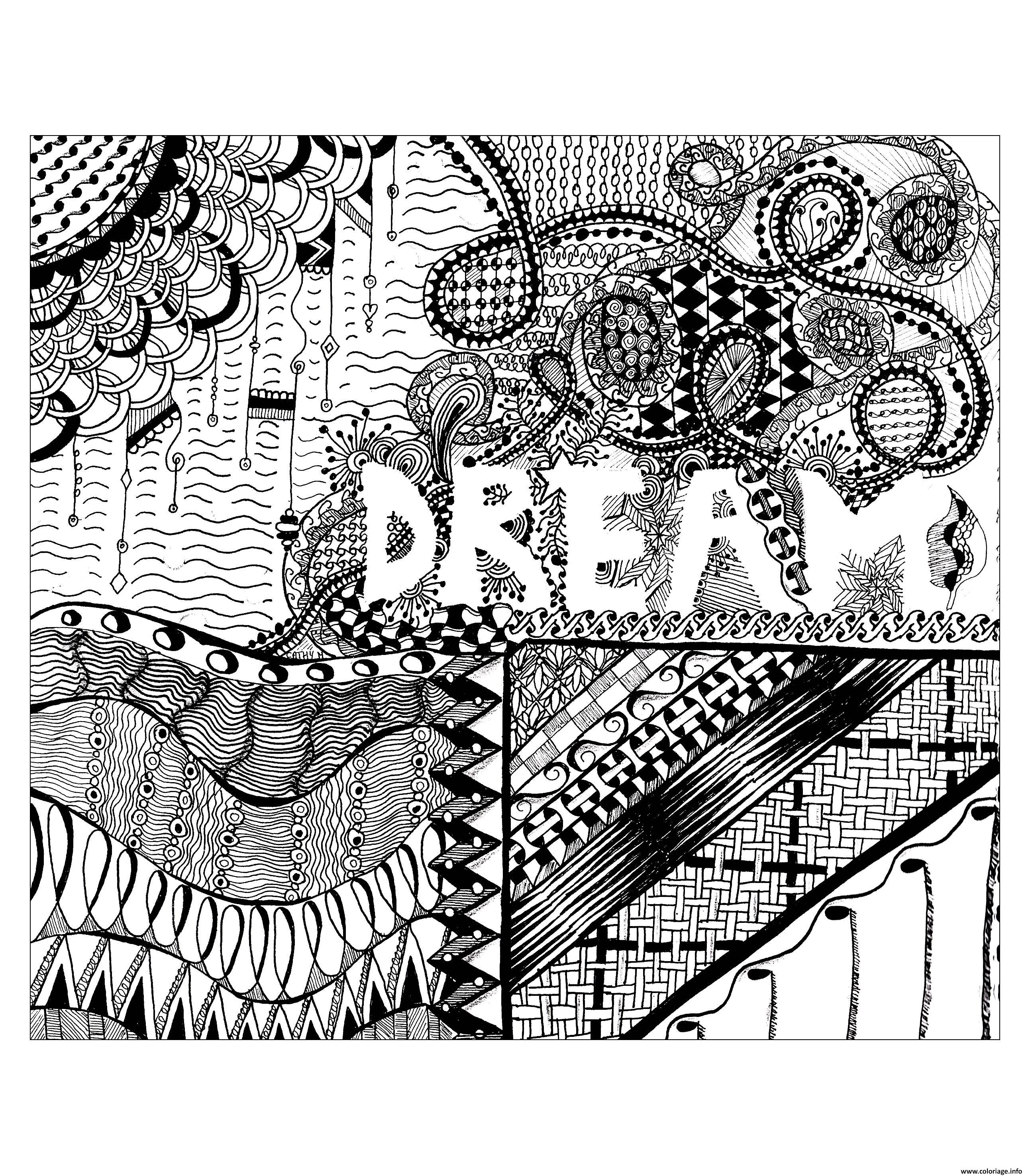 Dessin adulte zentangle by cathym 21 Coloriage Gratuit à Imprimer