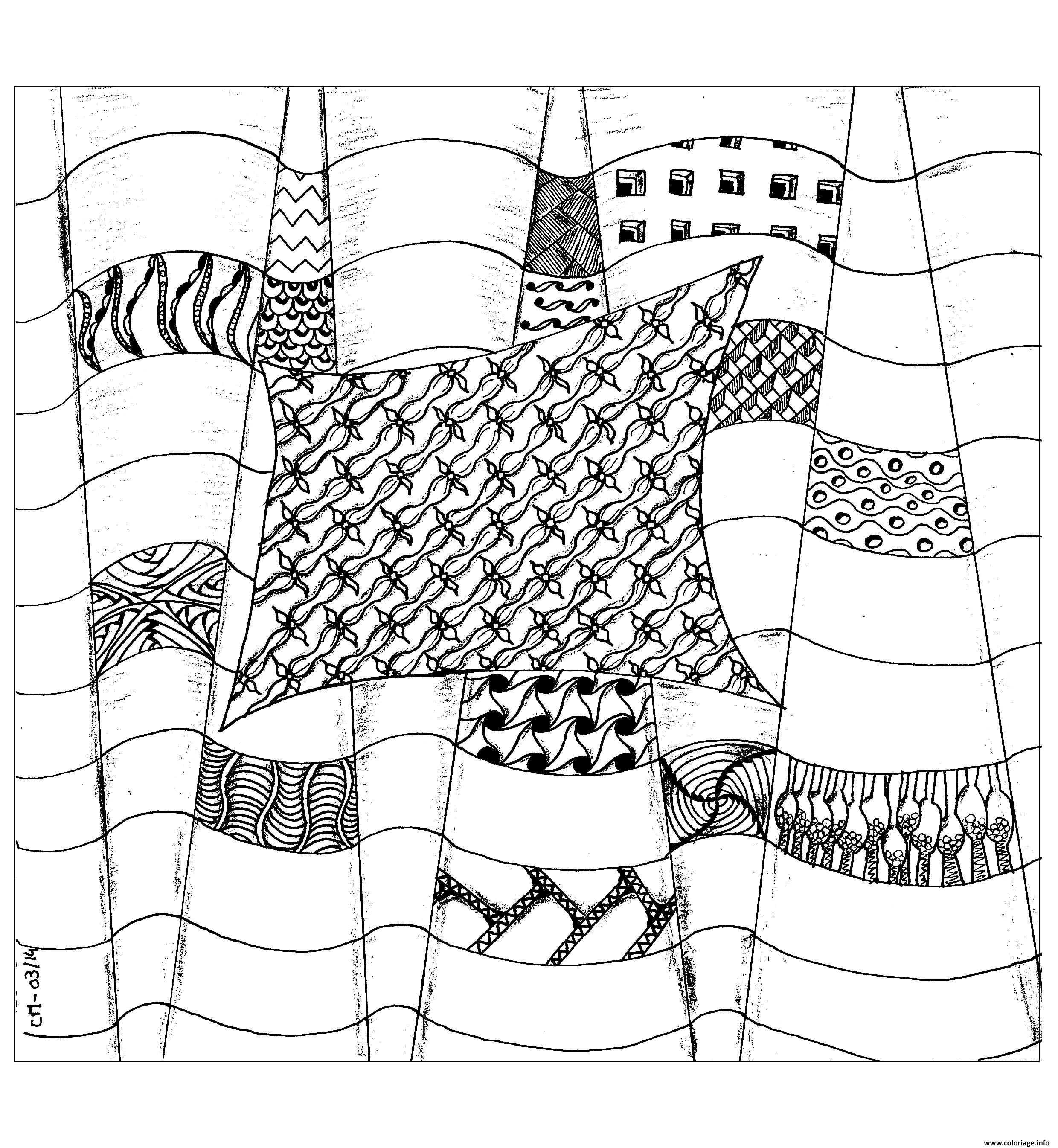 Coloriage Adulte Zentangle By Cathym 25 Dessin à Imprimer