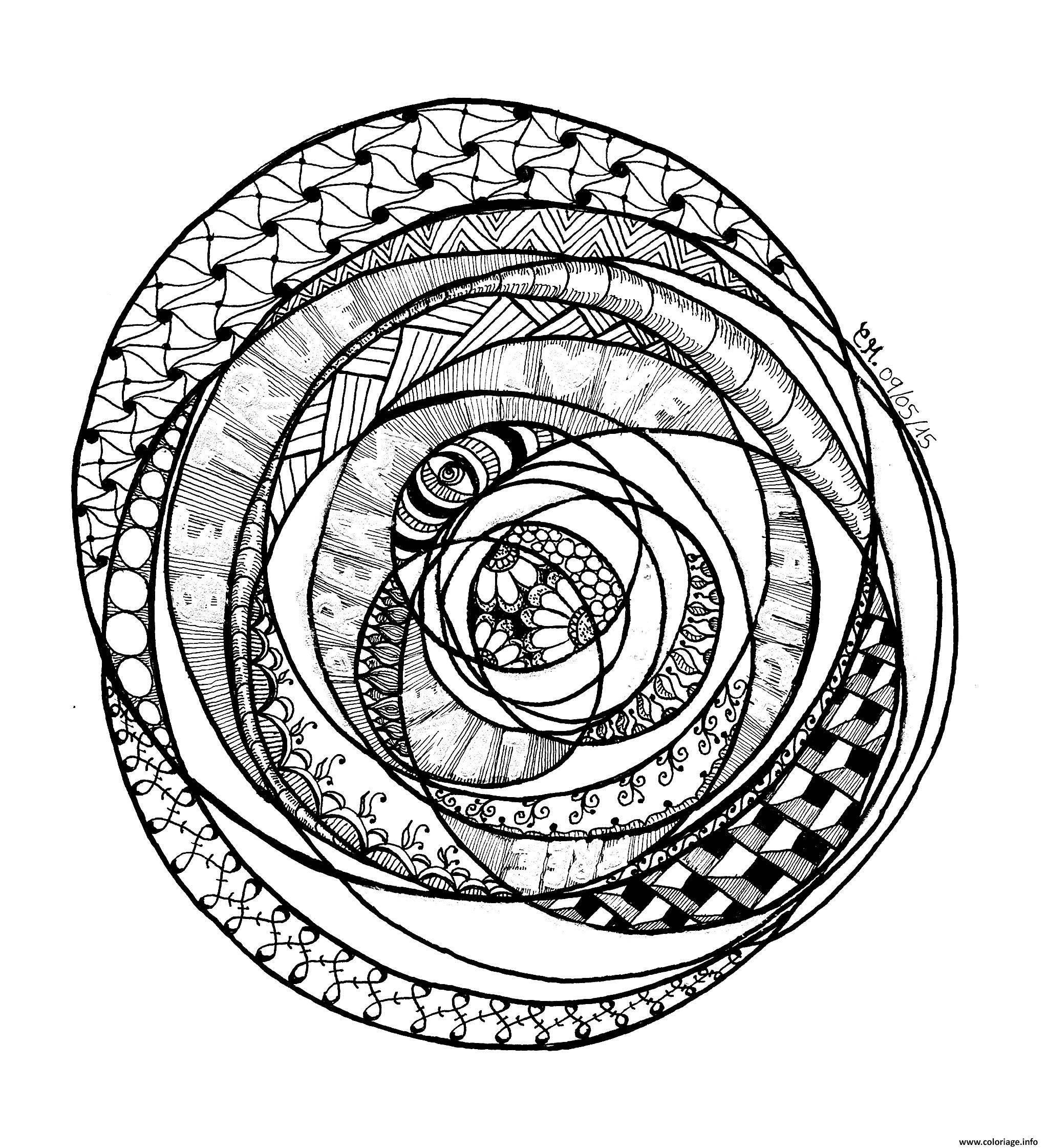 Dessin adulte zentangle by cathym 22 Coloriage Gratuit à Imprimer