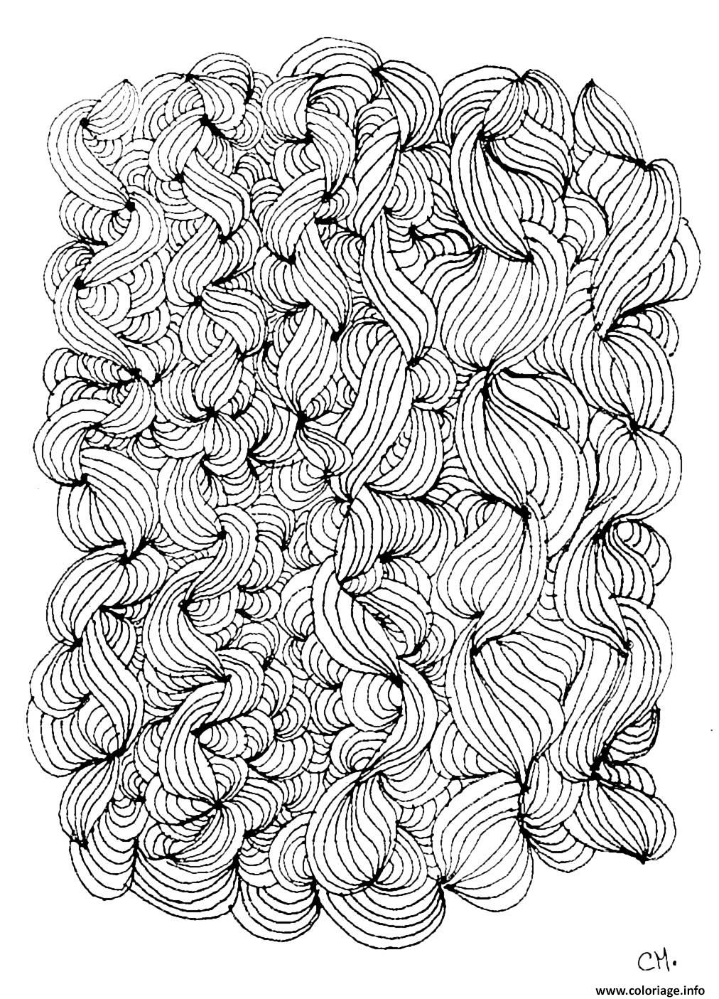Dessin adulte zentangle by cathym 3 Coloriage Gratuit à Imprimer