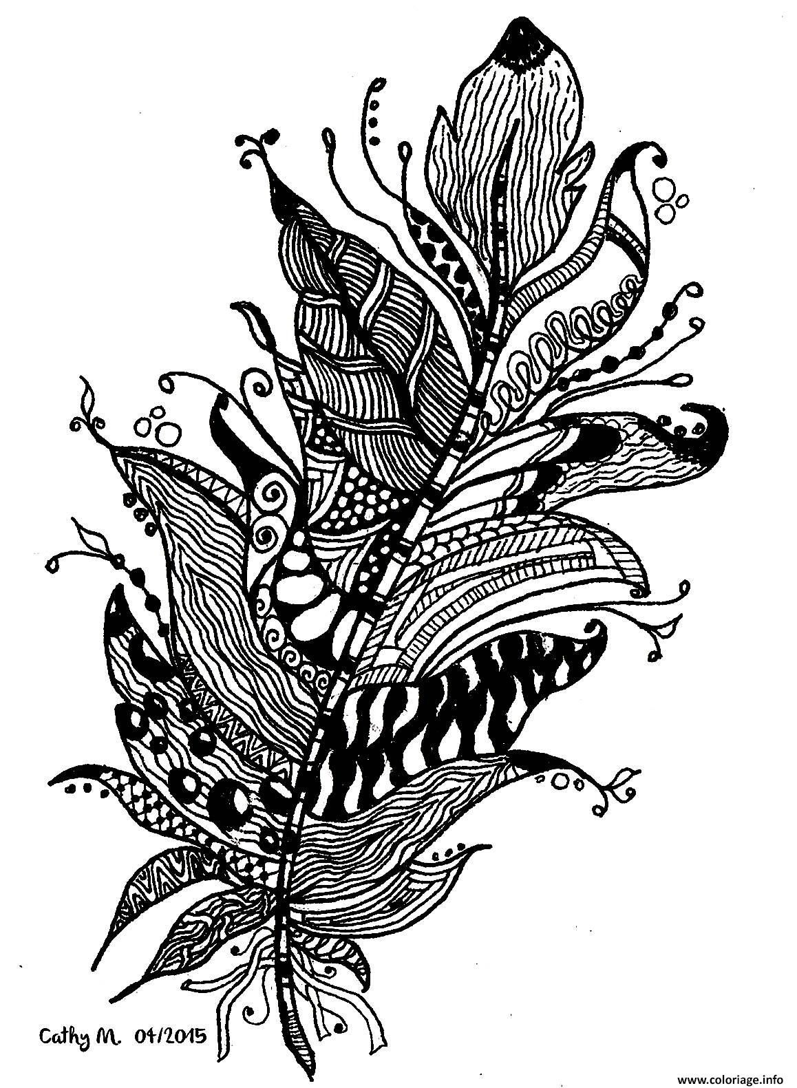 Dessin adulte zentangle by cathym 11 Coloriage Gratuit à Imprimer