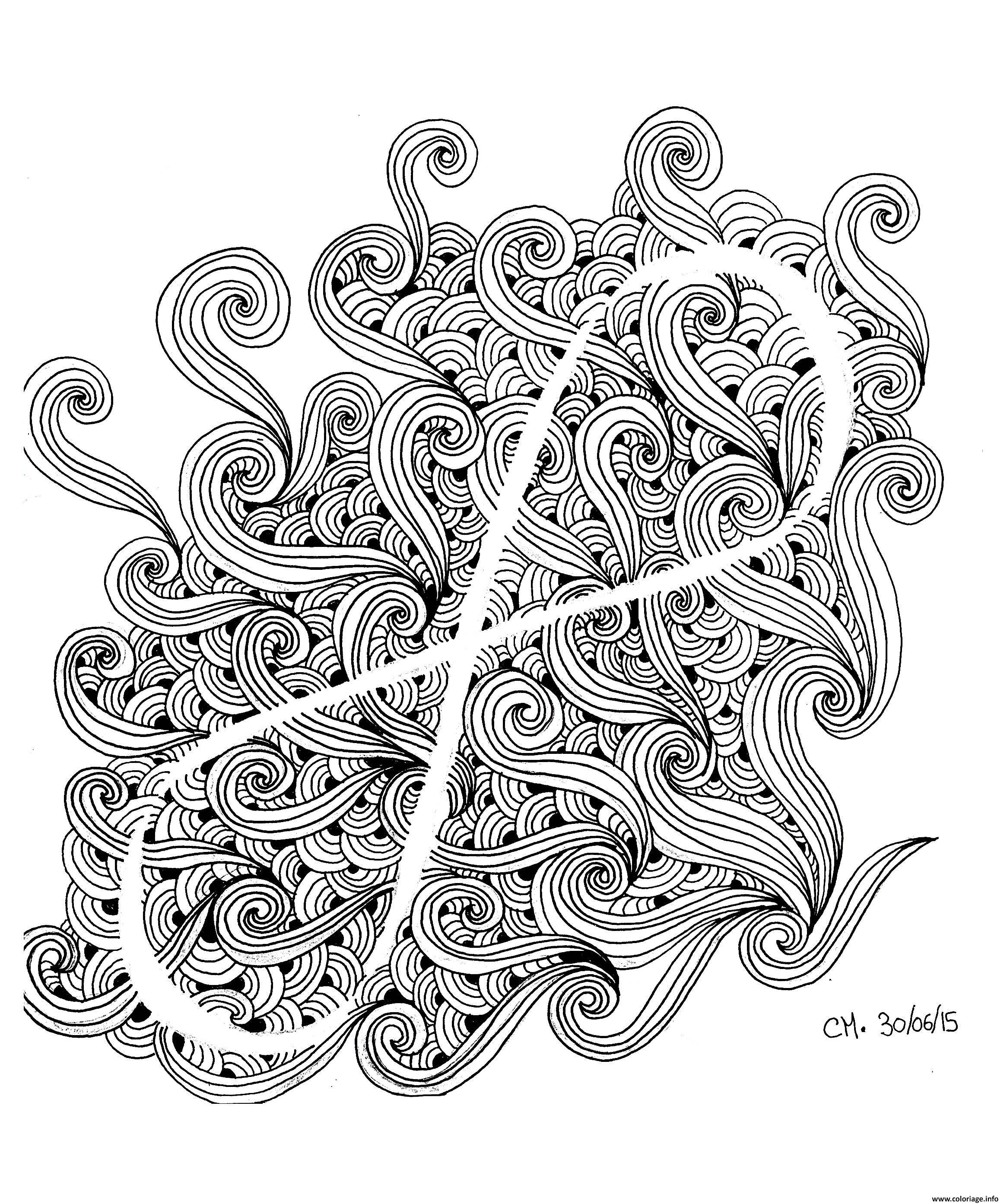 Dessin adulte zentangle by cathym 12 Coloriage Gratuit à Imprimer