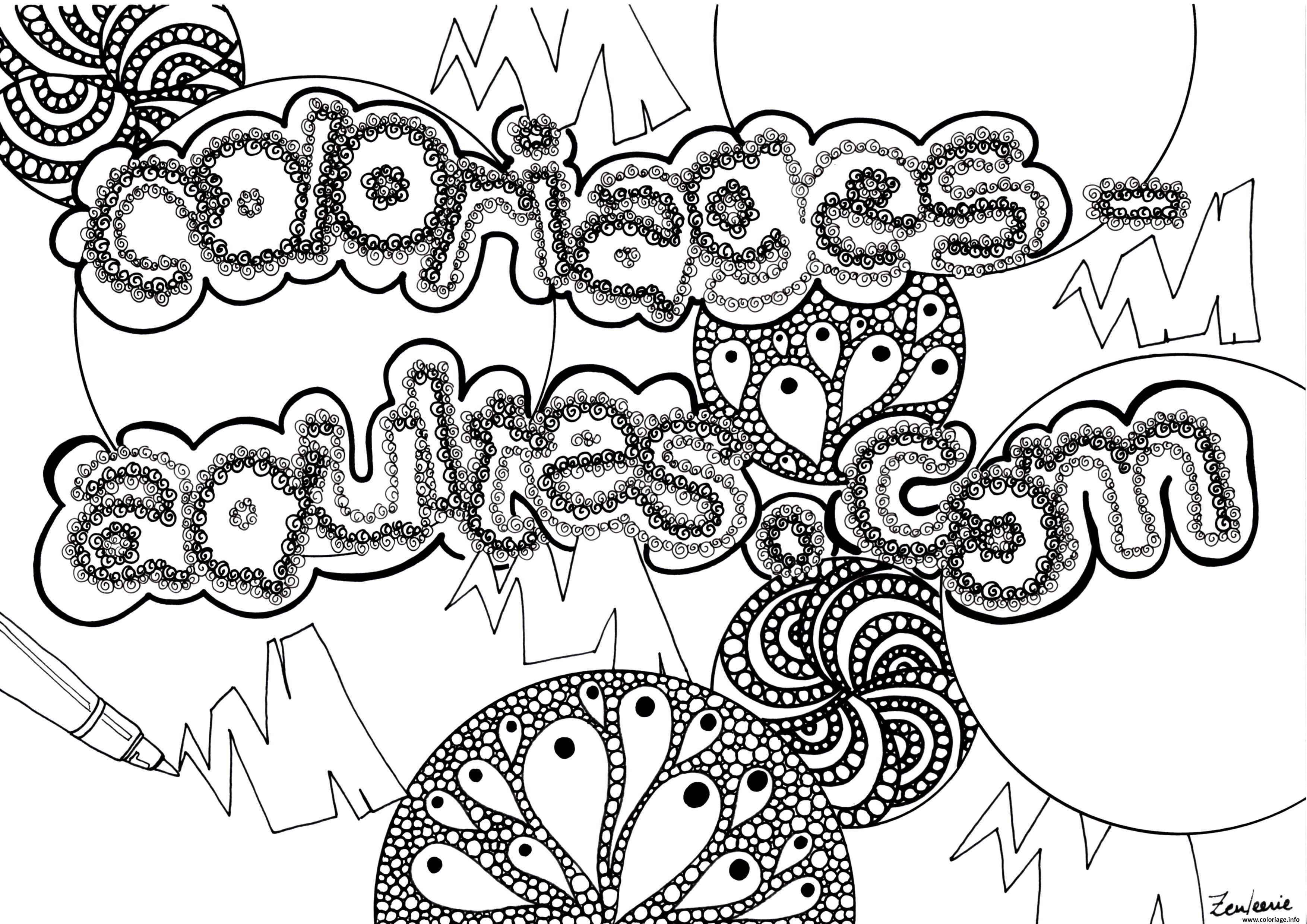 Dessin adulte coloriagesadultees by zenfeerie Coloriage Gratuit à Imprimer
