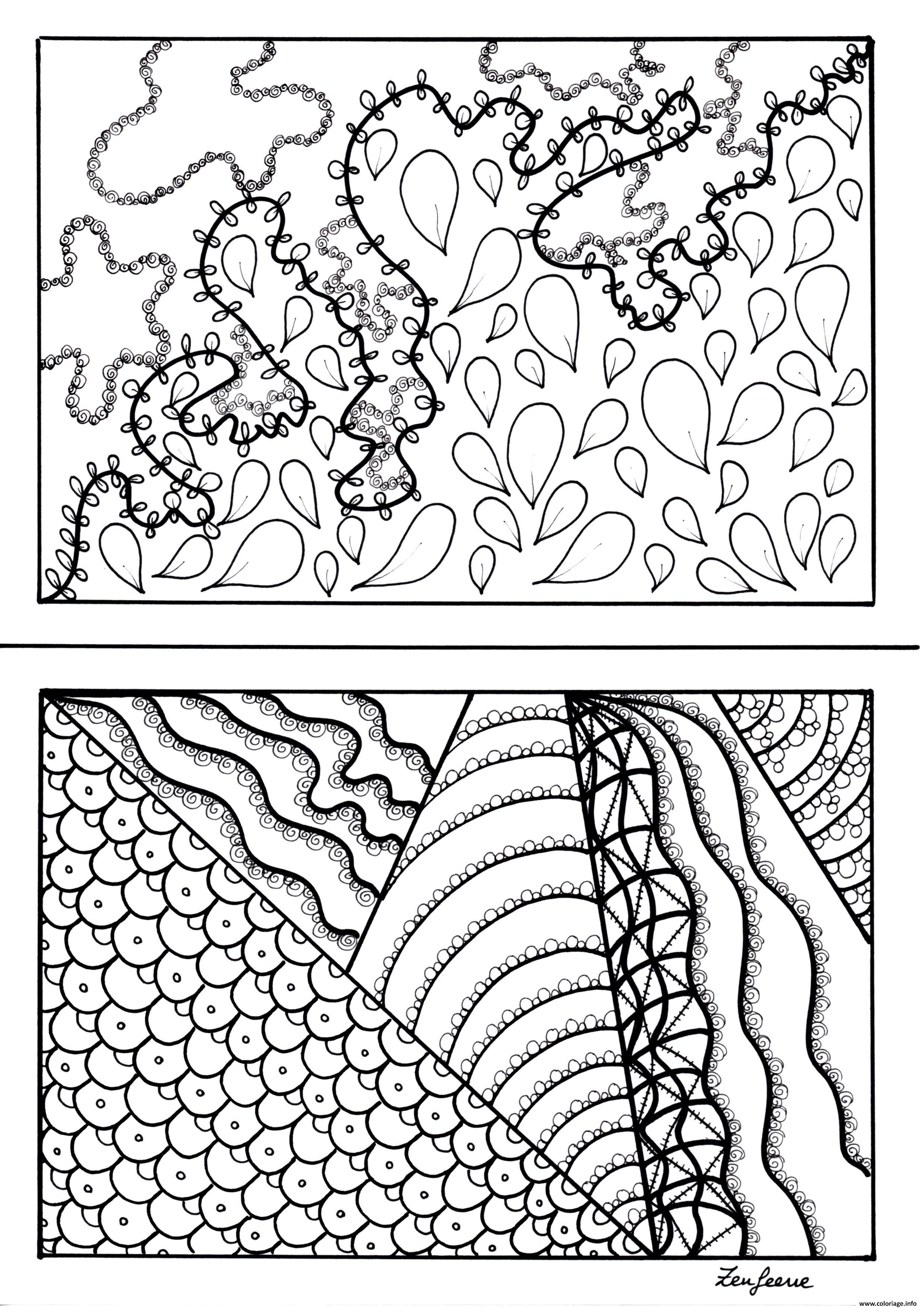 Dessin adulte imaginationa5 by zenfeerie Coloriage Gratuit à Imprimer