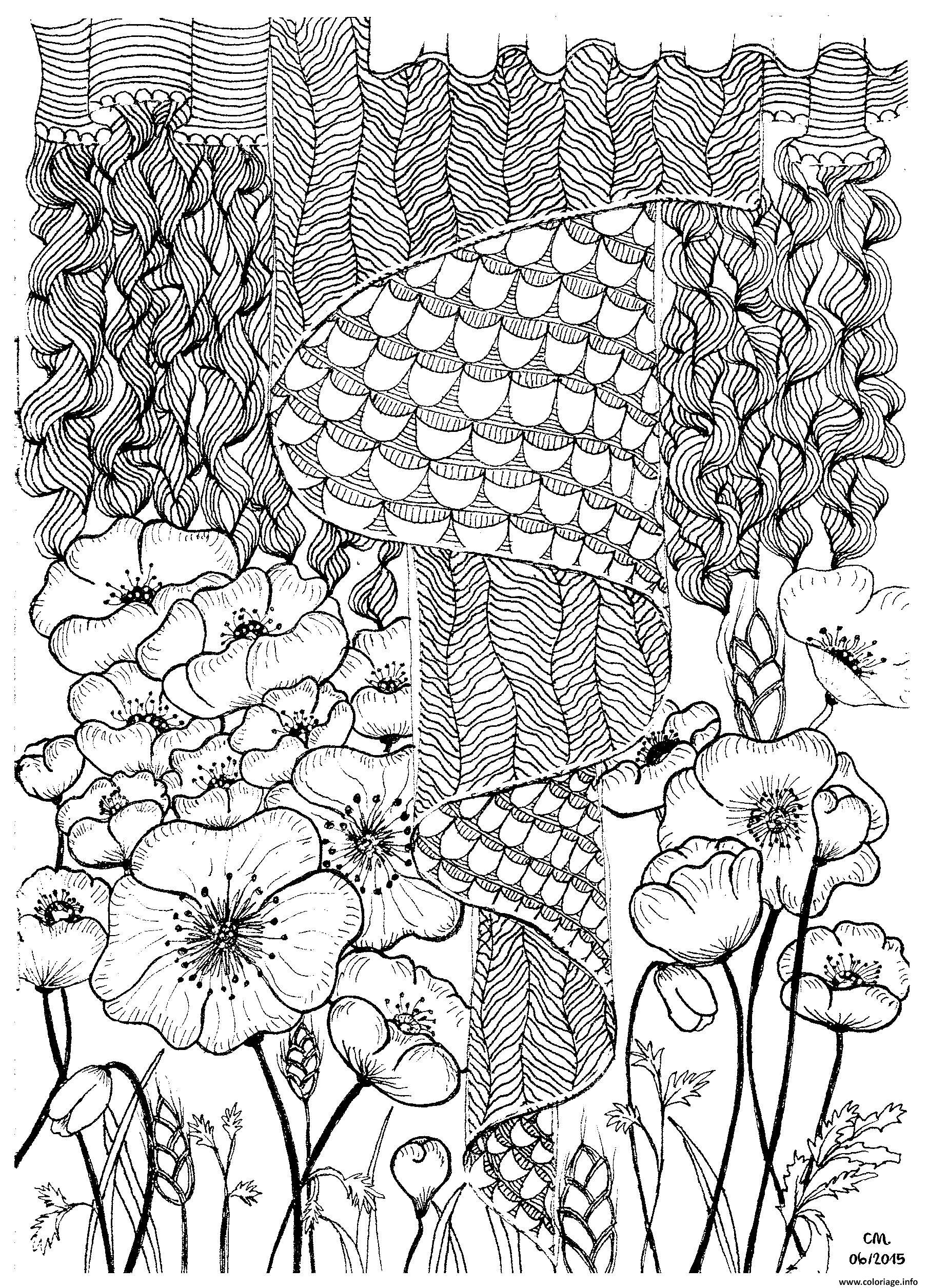 Coloriage Adulte Zentangle By Cathym 2 Dessin à Imprimer
