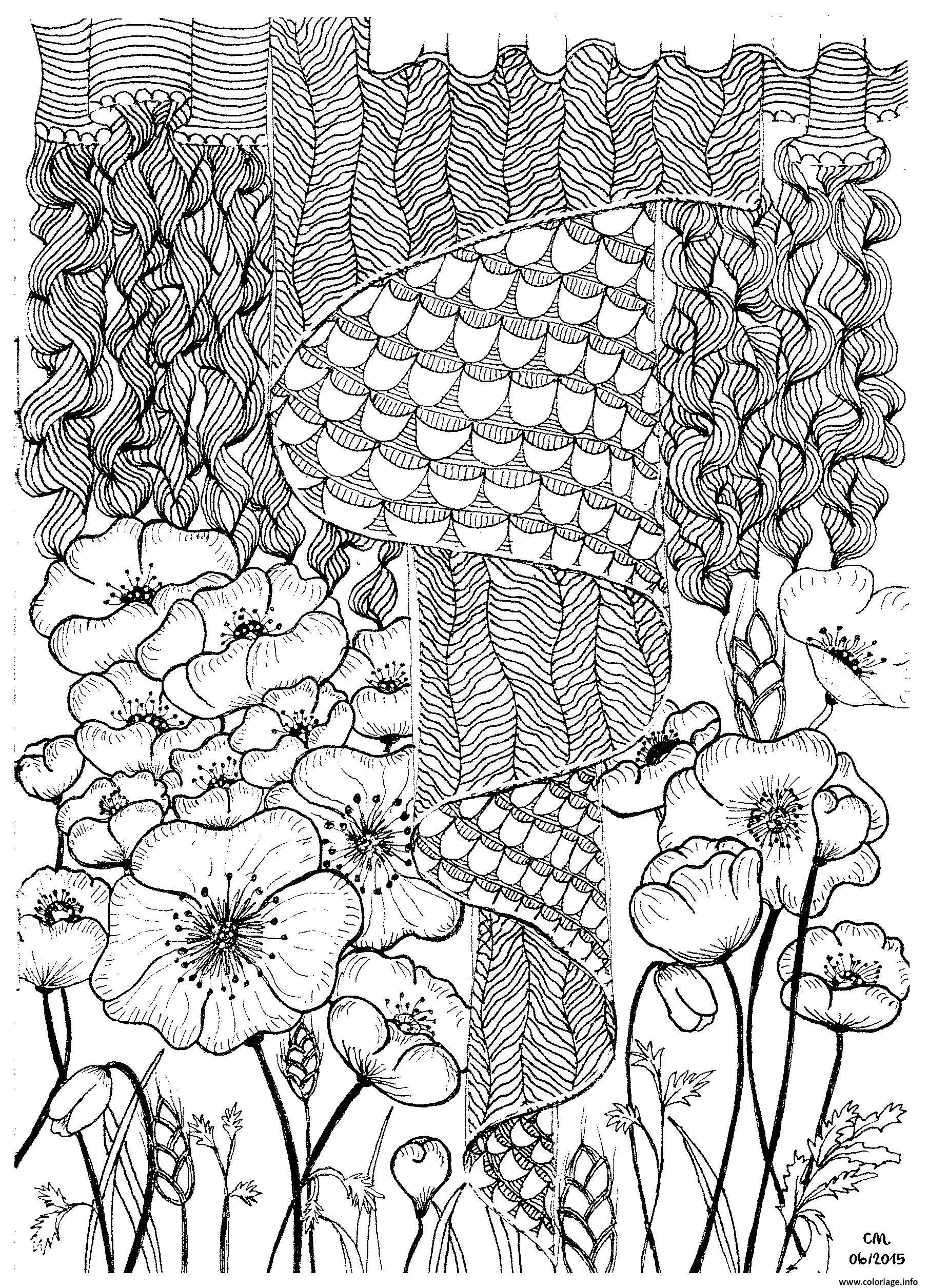 Dessin adulte zentangle by cathym 2 Coloriage Gratuit à Imprimer