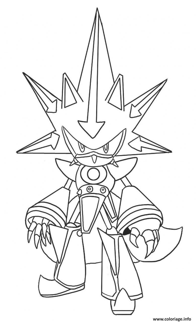 Coloriage Metal Classic Sonic dessin