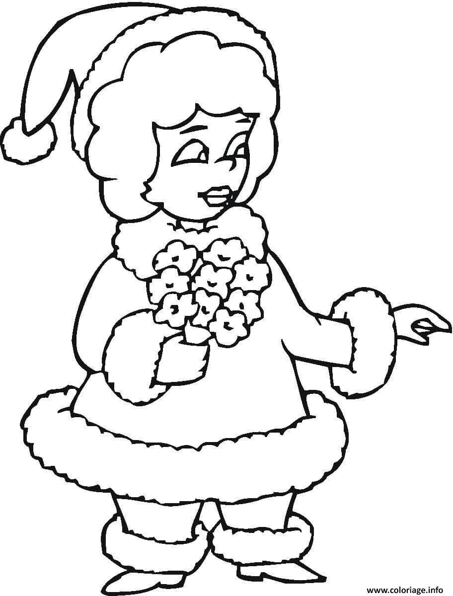 Coloriage mere noel mrs santa   JeColorie.com