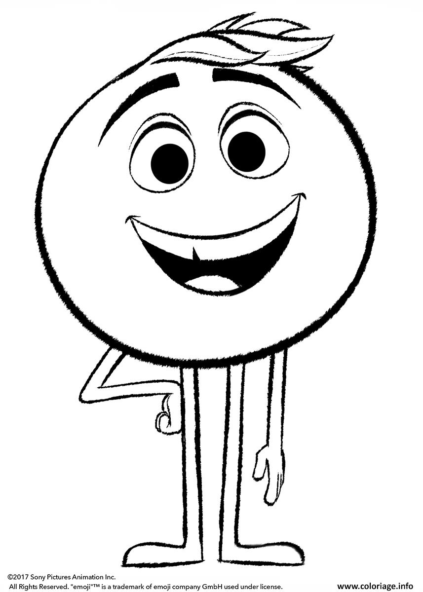 Coloriage Gene Emoji Monde Secret Des Emojis Dessin Le ...