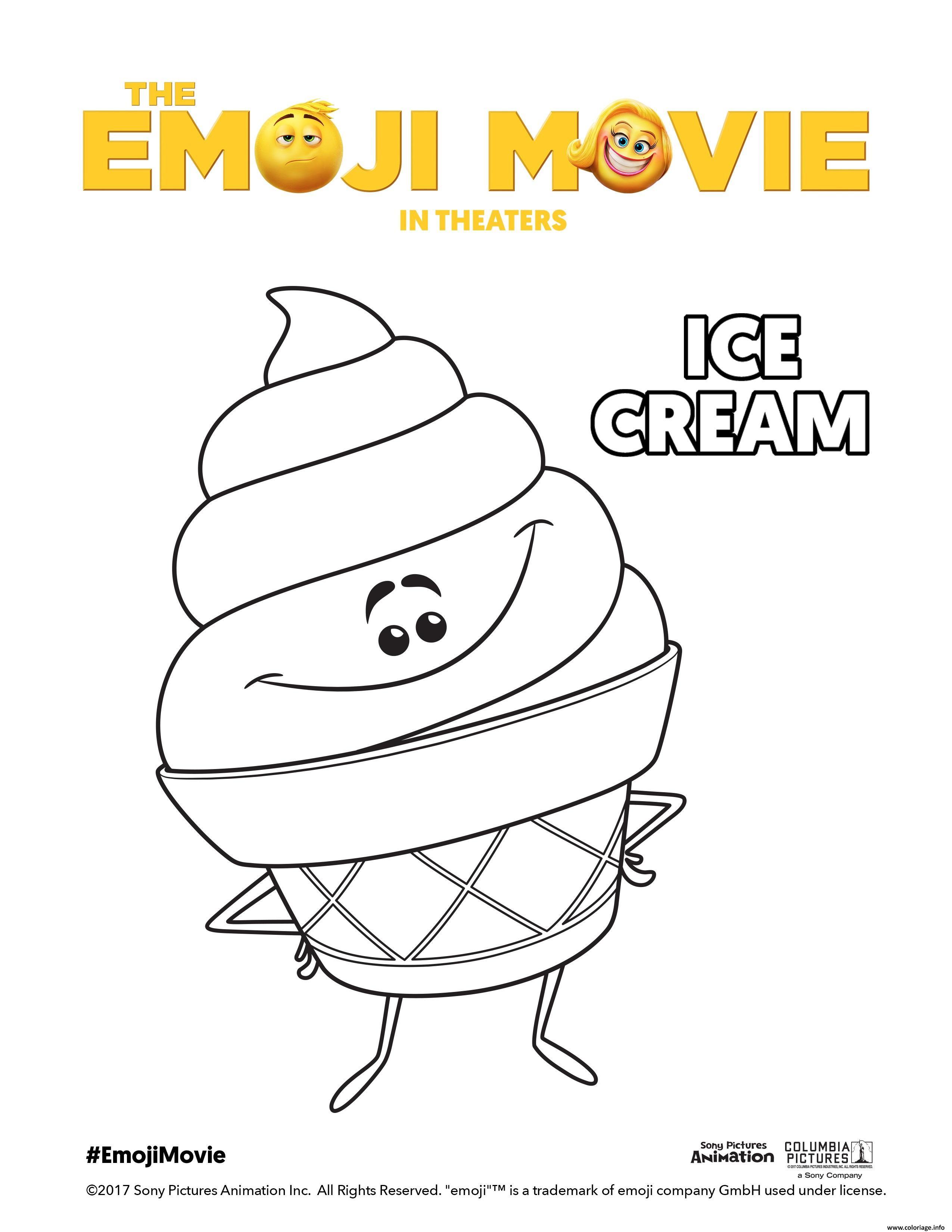 Coloriage Emoji Pizza.Coloriage Ice Cream Emoji Monde Secret Des Emojis Jecolorie Com