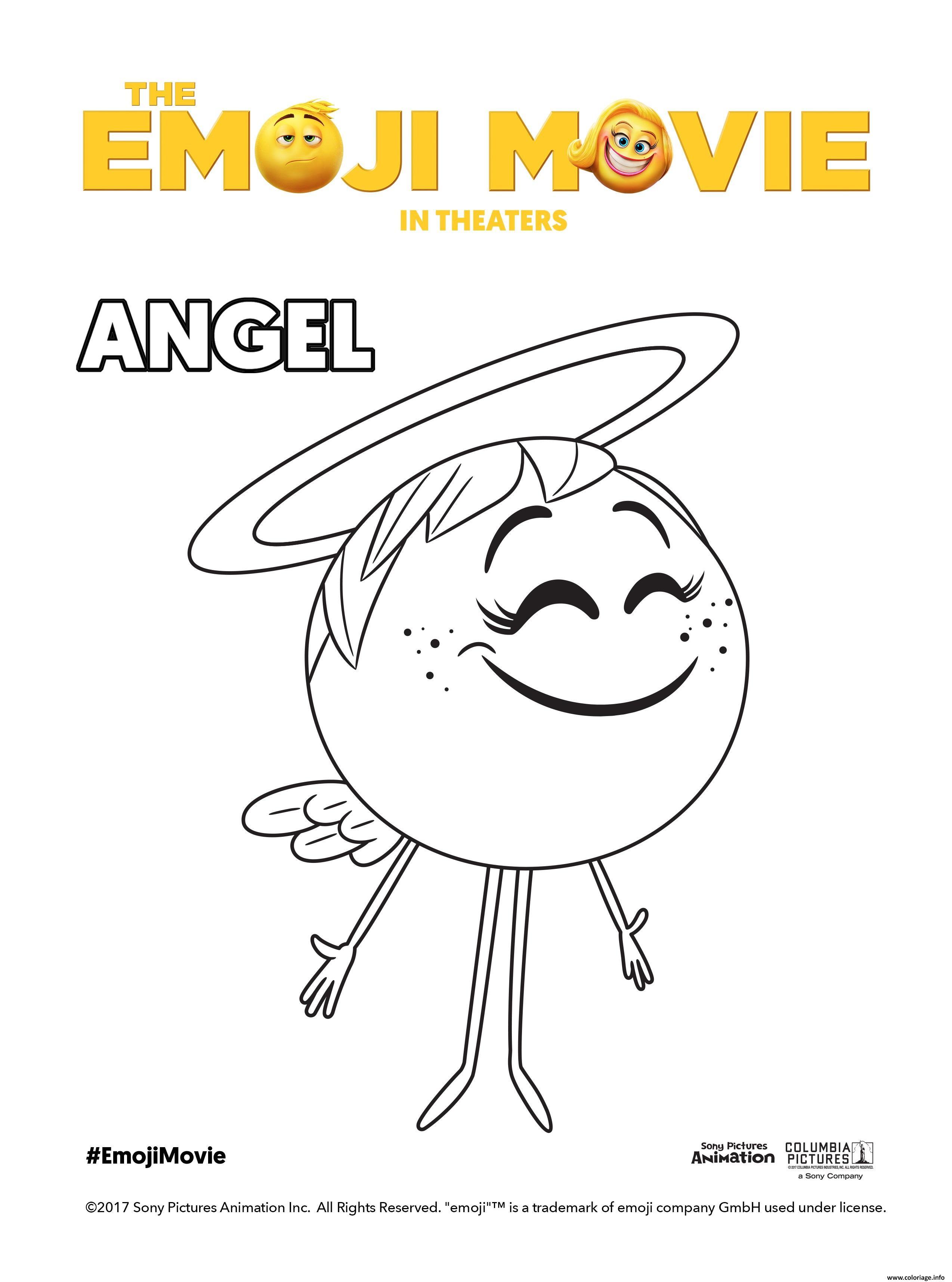 Coloriage Angel Emoji Monde Secret Des Emojis Jecolorie Com
