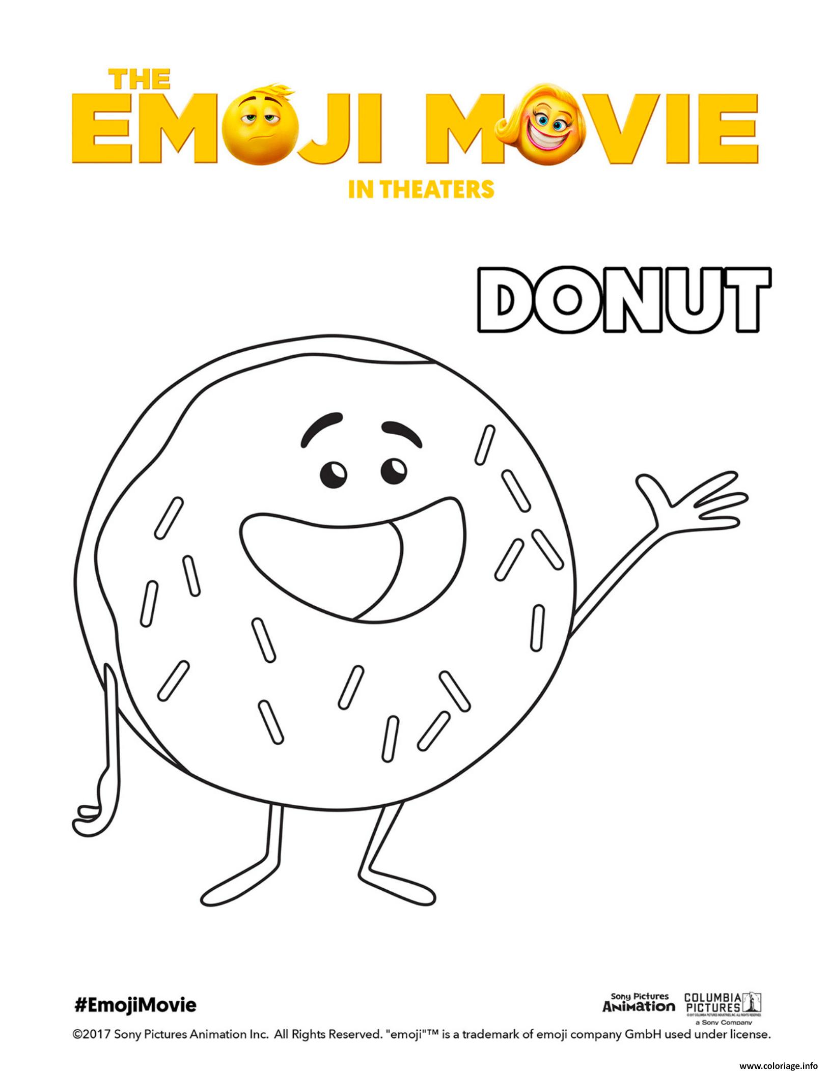 Coloriage Donut Emoji Monde Secret Des Emojis Dessin