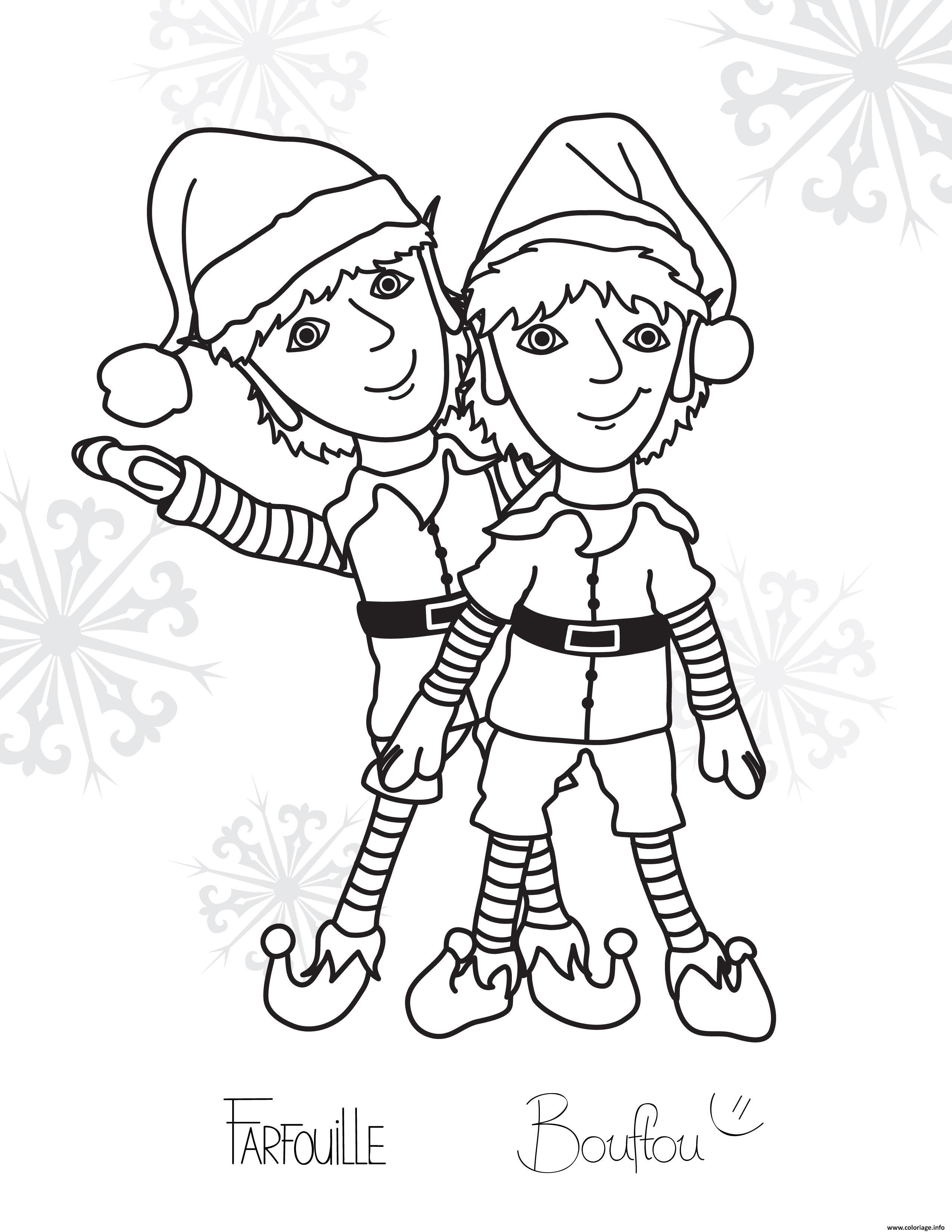 Inspirant Dessin A Imprimer Lutin De Noel
