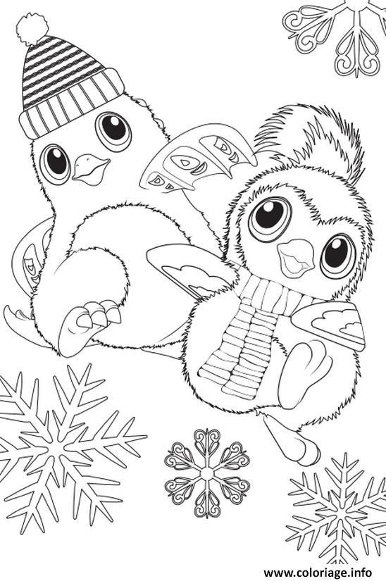 Coloriage A Imprimer Hiver.Coloriage Hatchimals Hiver Noel Dessin