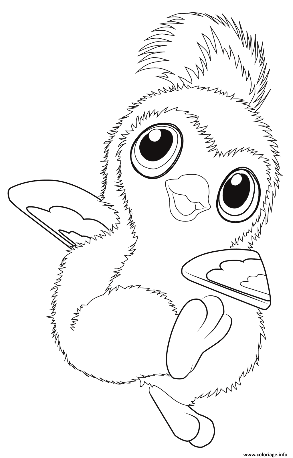 Coloriage Cute Pengualas From Hatchimals Dessin à Imprimer
