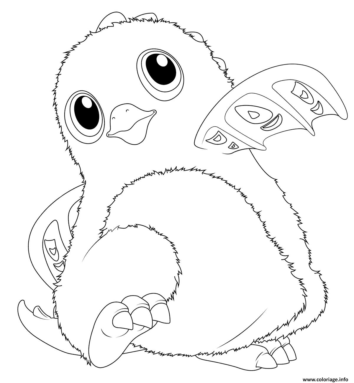 Coloriage Hatchimals Draggles - JeColorie.com