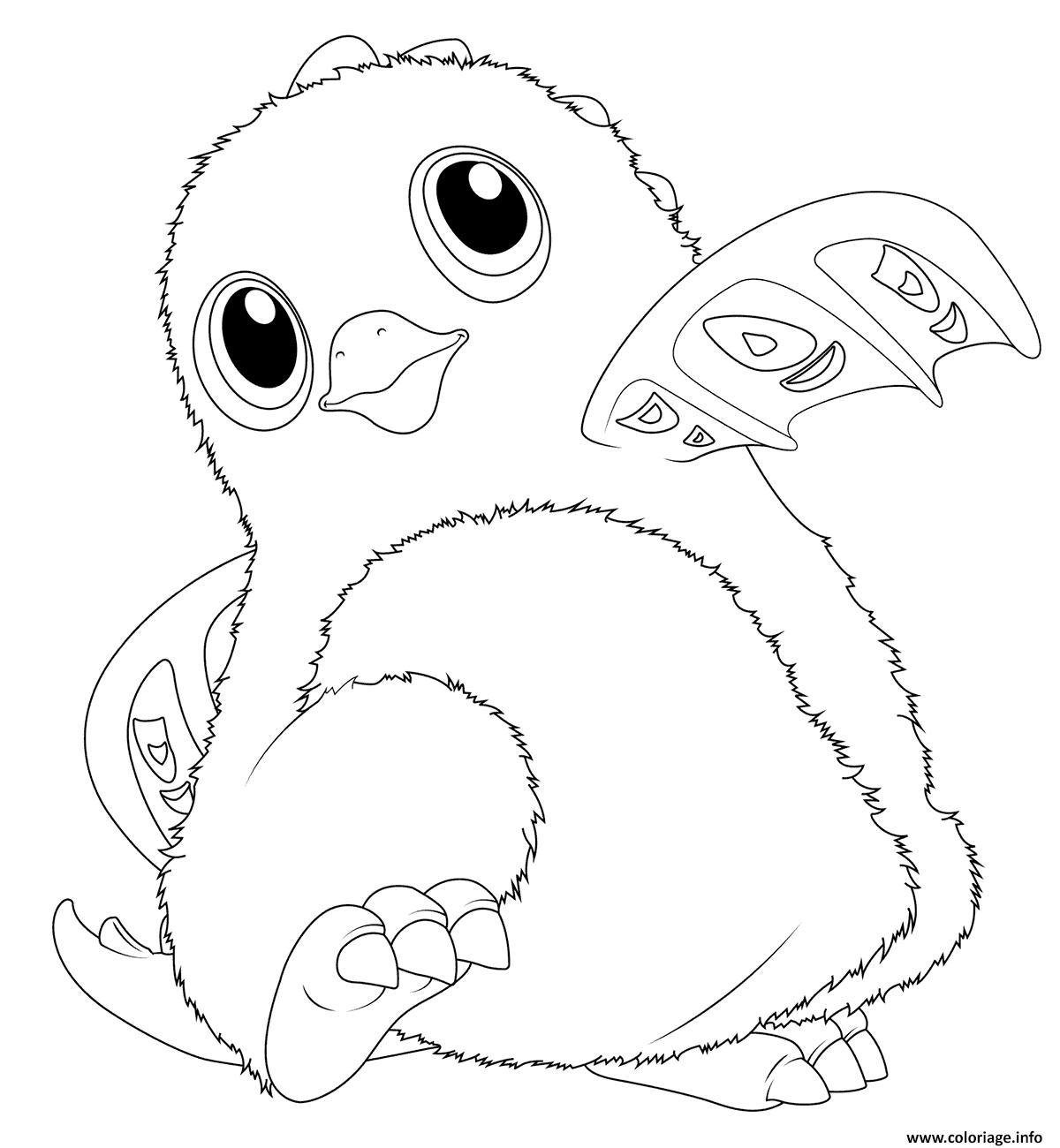 Coloriage Hatchimals Draggles - JeColorie.com