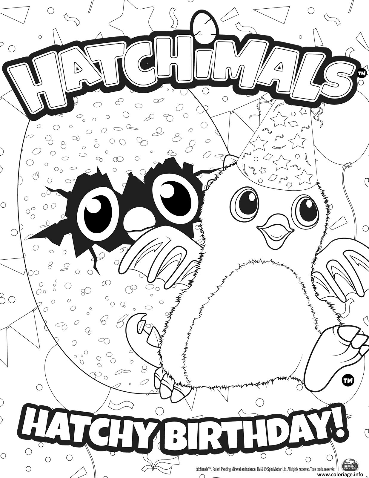 Coloriage Hatchimals J... Baby Minion Coloring Pages