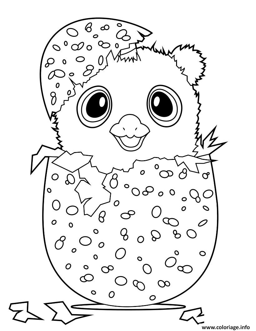 Coloriage Hatchimal Owlicorn Dessin Hatchimals à imprimer
