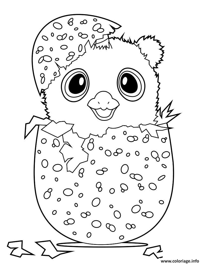 Dessin hatchimal Owlicorn Coloriage Gratuit à Imprimer