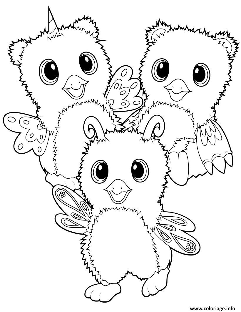 Coloriage hatchimal burtle owlicorn