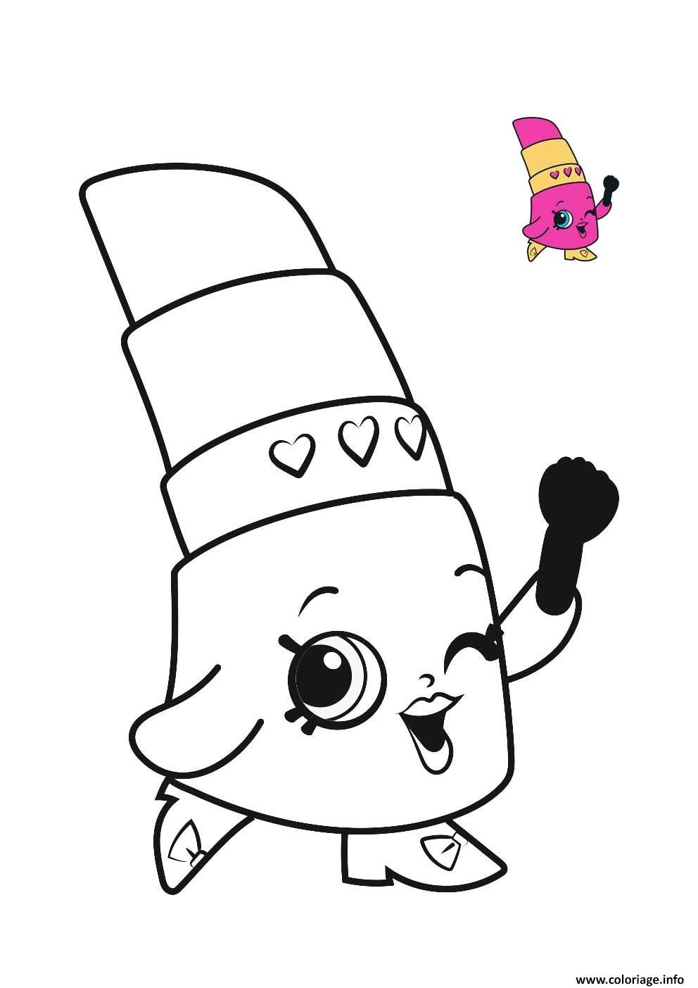 Coloriage shopkins lipstick wink for Lipstick shopkins coloring page
