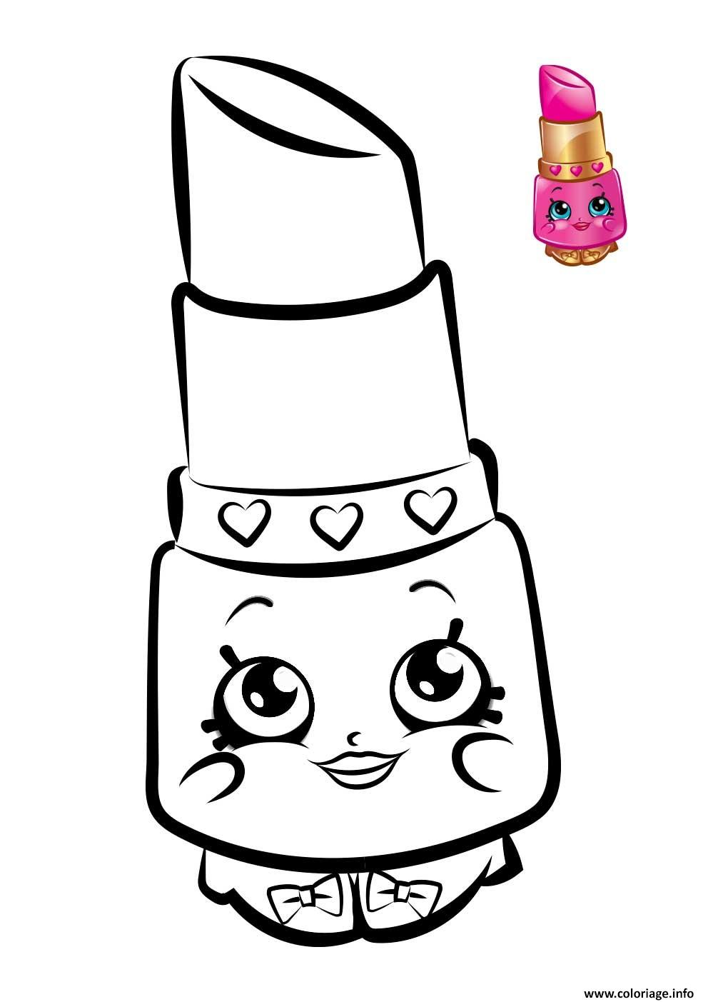 Coloriage shopkins lipstick for Lipstick shopkins coloring page