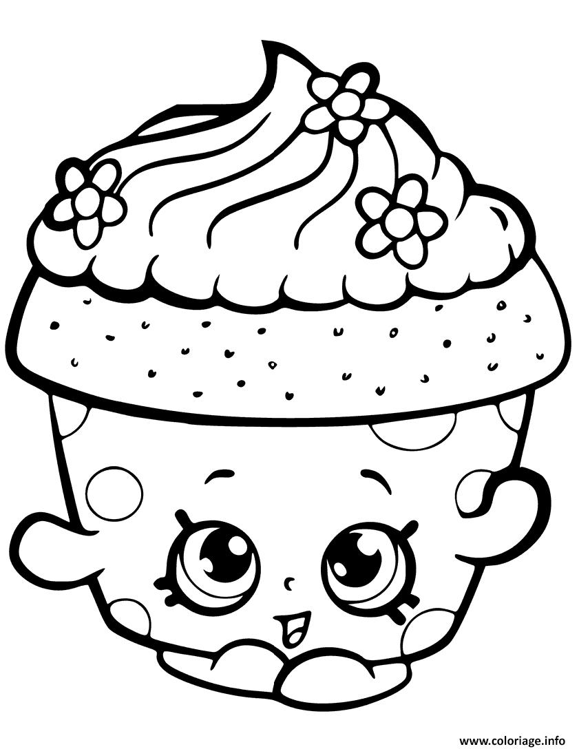 Coloriage cupcake petal shopkin dessin - Dessin cupcake ...