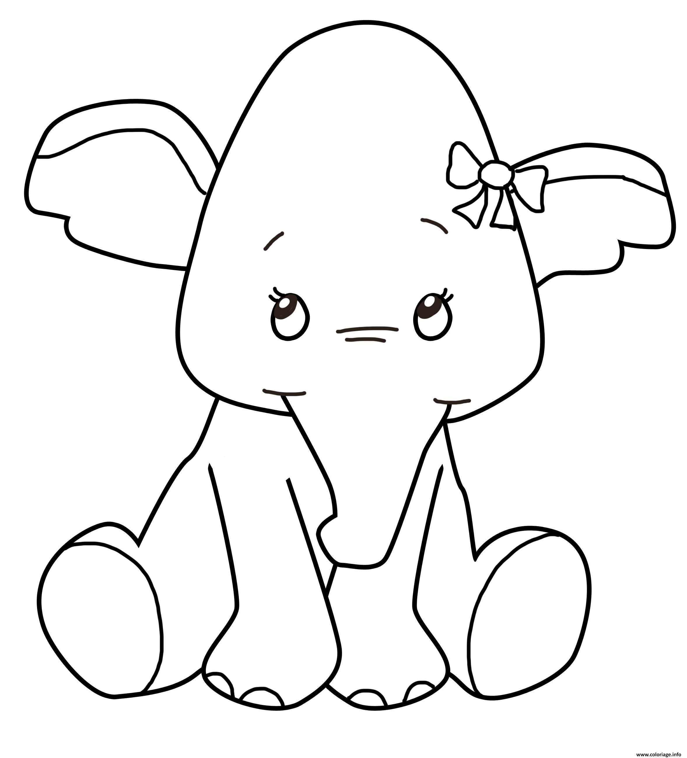 bebe elephant animaux enfants coloriage dessin