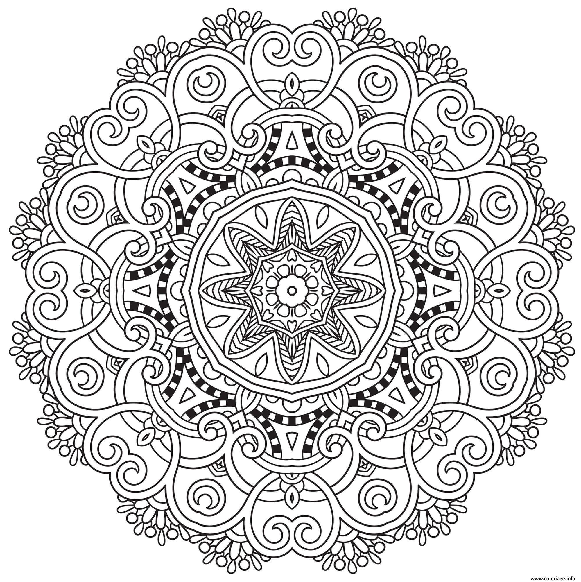 Dessin incredible mandala adulte Coloriage Gratuit à Imprimer