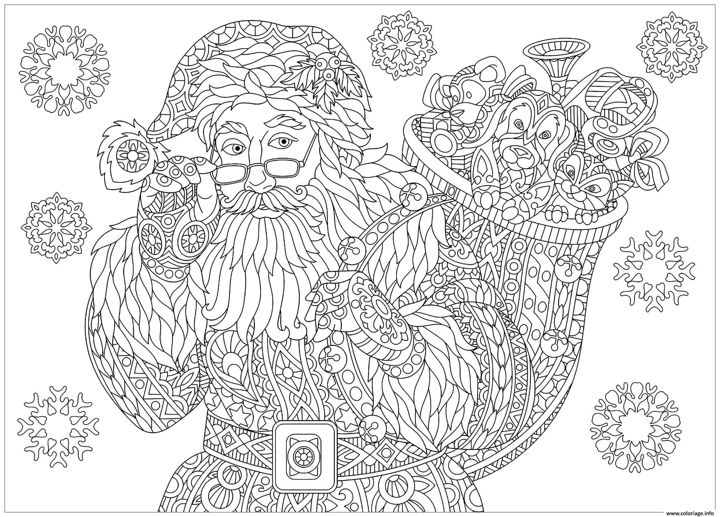 Élégant Image Gratuite Du Pere Noel A Imprimer