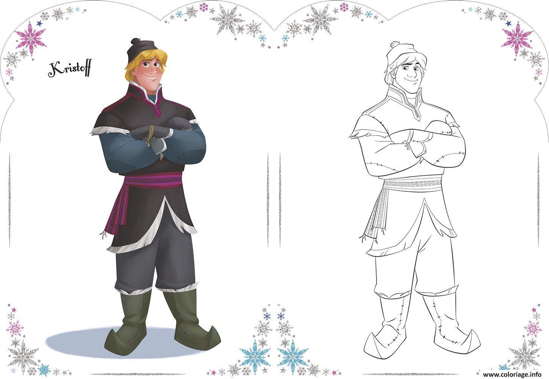 kristoff de la reine des neiges coloriage
