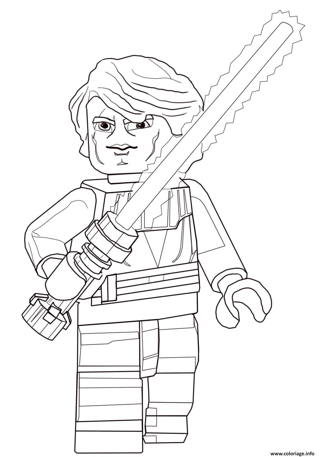 Coloriage Lego Star Wars Anakin Skywalker Dessin