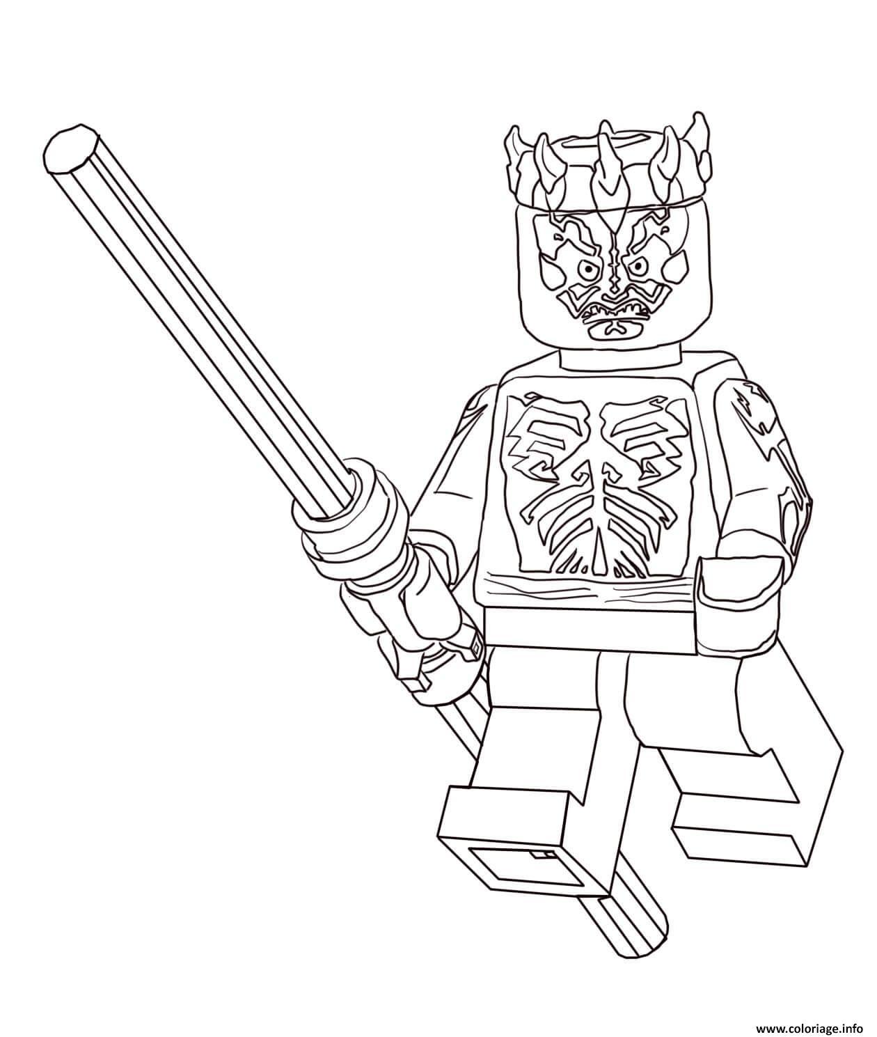 Coloriage Lego Star Wars Darth Maul dessin