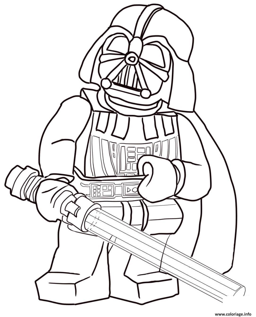 Coloriage Lego Star Wars Darth Vader Dessin Lego Star Wars A Imprimer