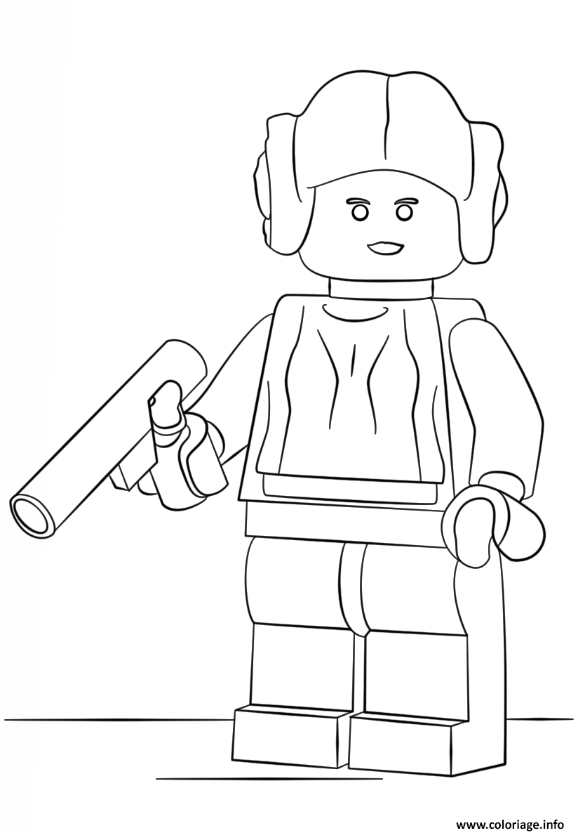 Coloriage lego star wars princess leia - Star wars gratuit ...