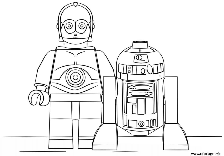 Coloriage Lego Star Wars R2d2 And C3po dessin