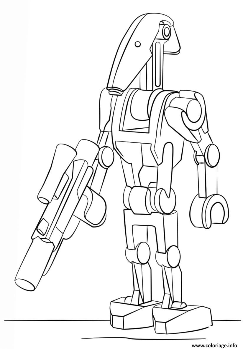 Coloriage Lego Star Wars Battle Droid Jecolorie Com
