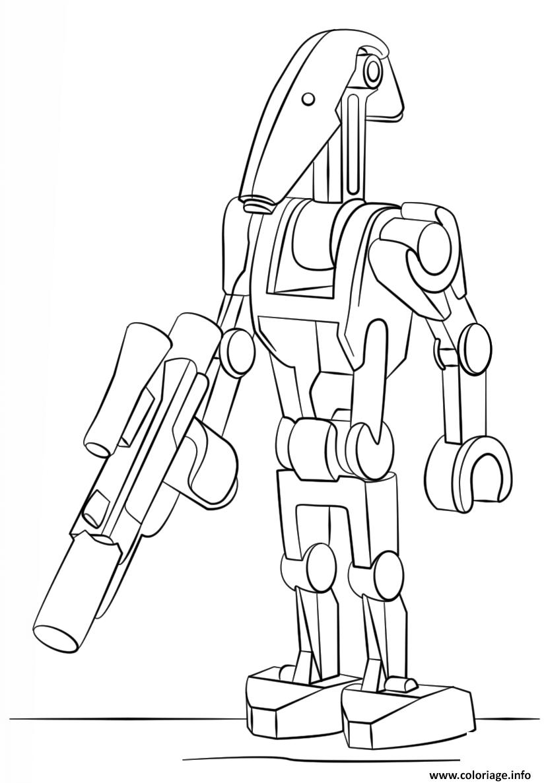 Dessin lego star wars battle droid Coloriage Gratuit à Imprimer