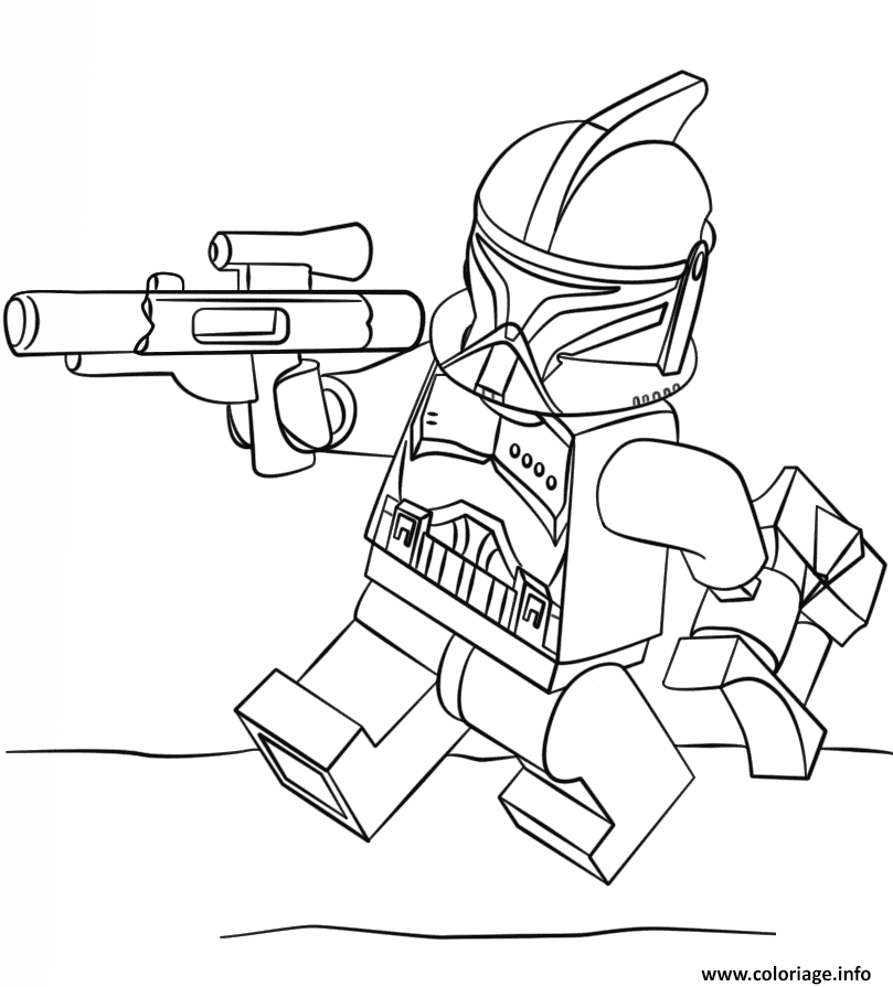 Coloriage Lego Star Wars Clone Trooper Jecolorie Com