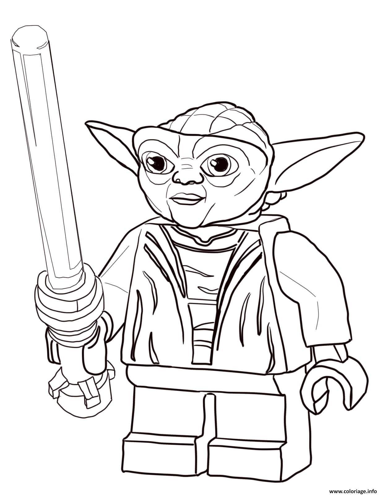 Coloriage lego star wars master yoda dessin - Coloriage star wars yoda ...