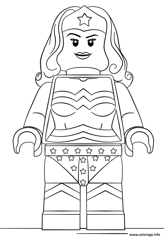 Coloriage Lego Wonder Woman Super Heroes Jecolorie Com