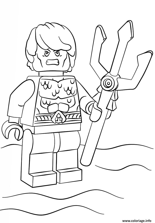 Dessin lego aquaman super heroes Coloriage Gratuit à Imprimer