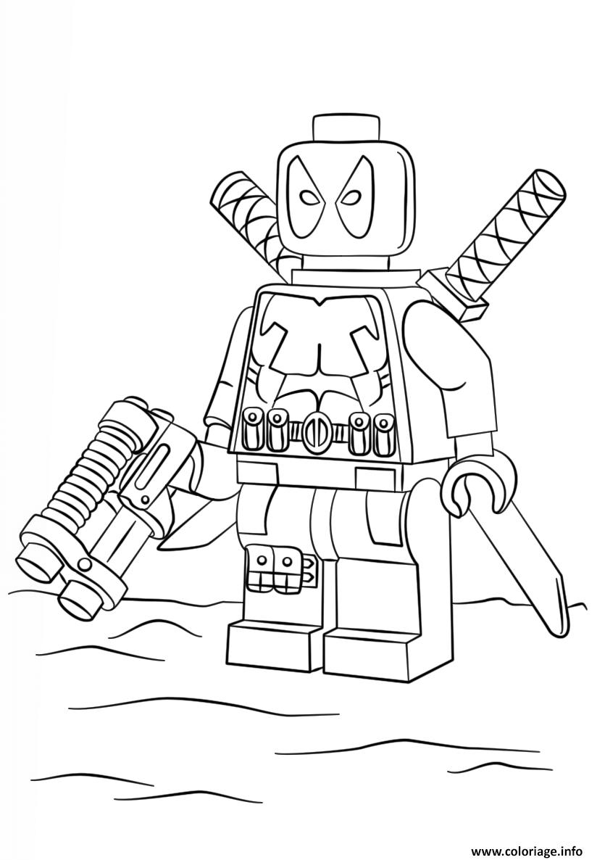 Coloriage Lego Dead Pool Super Heroes Dessin