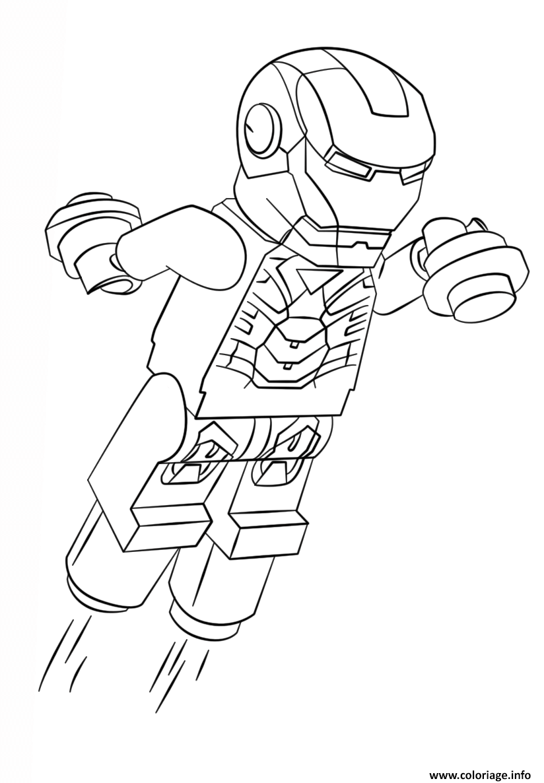 Coloriage Lego Iron Man Super Heroes Jecolorie Com